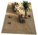 "FM6 Desert Mat with Diagonal Tracks 12"" x 29"" rubber mat, cut to shape (Accessories not Incl)"